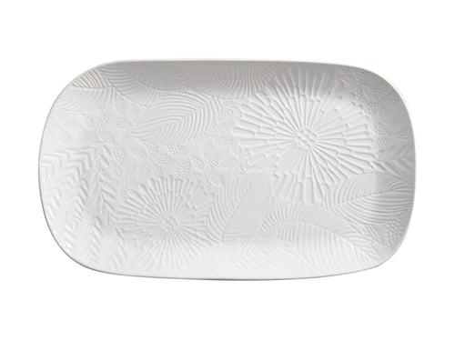 Maxwell Williams Panama Oblong Platter 39x23cm White