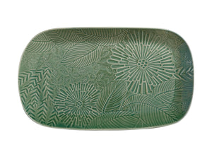 Maxwell Williams Panama Oblong Platter 39x23cm Kiwi