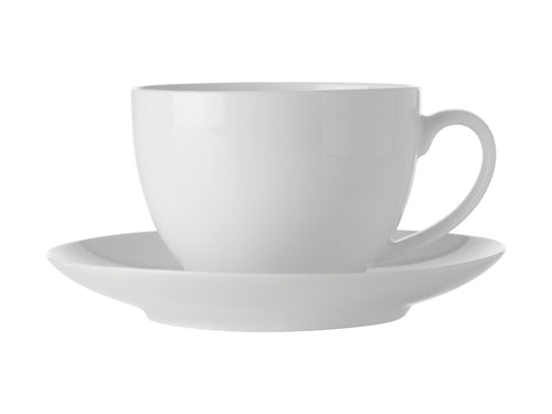 Maxwell Williams White Basis Tea Cup & Saucer 280ml