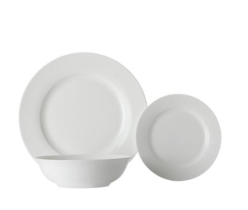 Maxwell & Williams White Basics European Rim 12 Piece Dinner Set