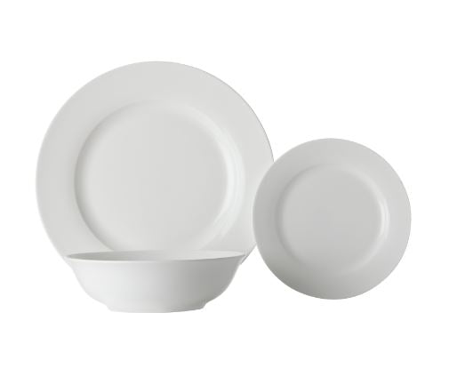 Maxwell & Williams White Basics European Rim 18 Pce Dinner Set