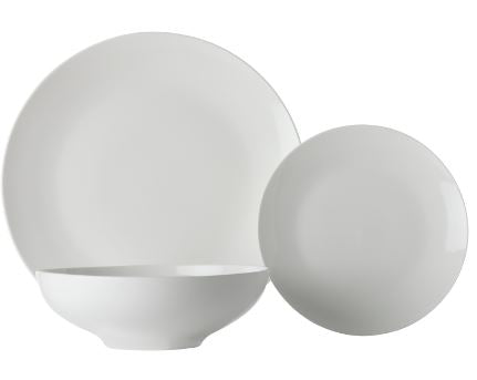 Maxwell & Williams White Basics Tribeca Coupe 18 Piece Dinner Set