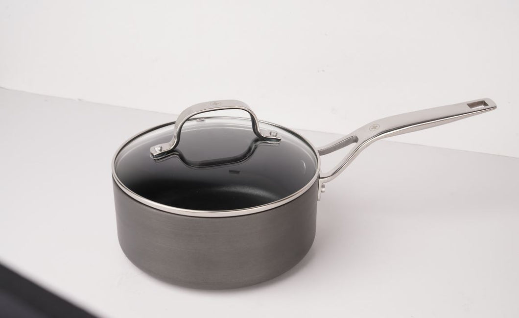 Swiss Diamond Anodised Non Stick Saucepan 18cm 1.9L