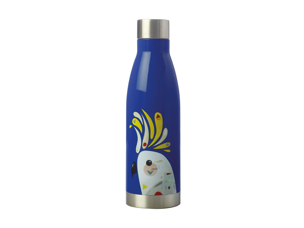 Maxwell & Williams Pete Cromer Insulated Drink Bottle Cockatoo