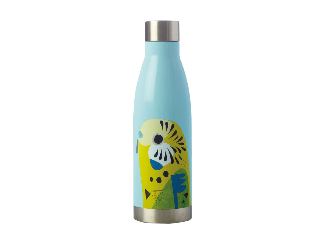Maxwell & Williams Pete Cromer Insulated Drink Bottle Sugar Budgerigar