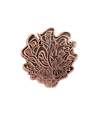 Lettuce Sparkle Head Pin (Copper - Ltd to 200)