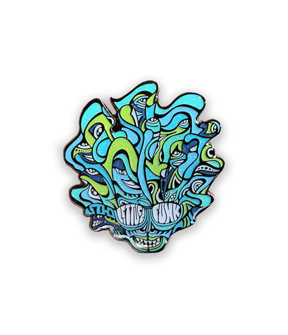 Lettuce Sparkle Head Pin (Blue / Green - Ltd to 200)