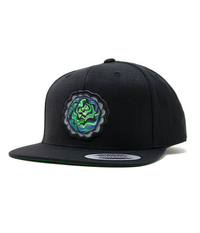 Lettuce Head Patch Snapback Hat (Black)