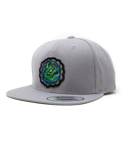 Lettuce Head Patch Snapback Hat (Grey)