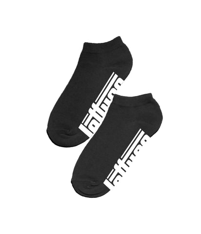 Lettuce Logo Black Ankle Socks