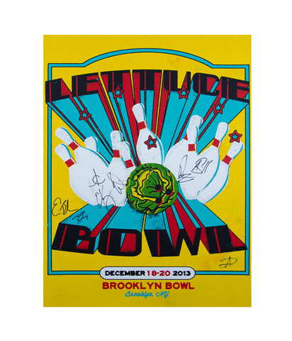 Lettuce Brooklyn Bowl 2013 Poster (Signed)