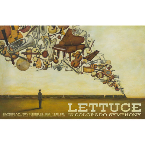 Lettuce LIMITED EDITION Lettuce with Colorado Symphony Poster