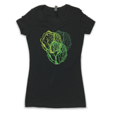 Lettuce Triple Lettuce Head Womens V-Neck Shirt