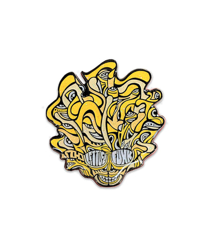 Lettuce Sparkle Head Pin (Yellow - Ltd to 200)
