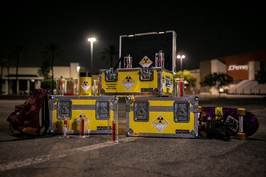 "Anvil ""1.21 Gigawatts"" Storage Case & ""Plutonium"" Sticker Set"