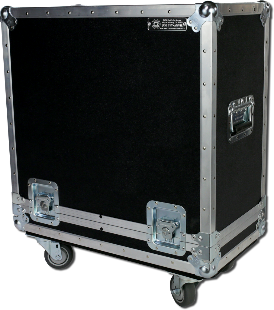 "Classic Anvil 2x15"" Cabinet Amp Case w/ Casters"