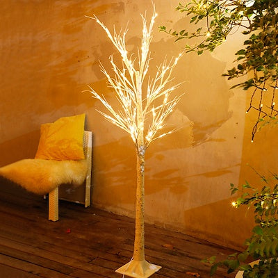 White Birch Christmas Tree with LED Lights (1.7M or 0.90M)