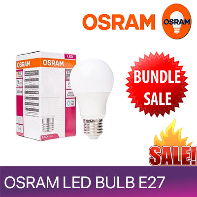 ☆ BUNDLE BUNDLE  SALES (5PCS)☆Osram LED Bulb 10.5W/14W  E27 (SCREW HEAD) 220-240V ☆