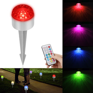 Waterproof  RGB LED Spike Light Lawn  Garden Floodlight  AC 85-265V + Remote Control