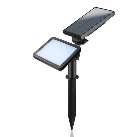 Outdoor Waterproof Solar  LED Lawn Light Wall Lamp Auto On High/Mid/Low/Strobe/Slow Flash Mode