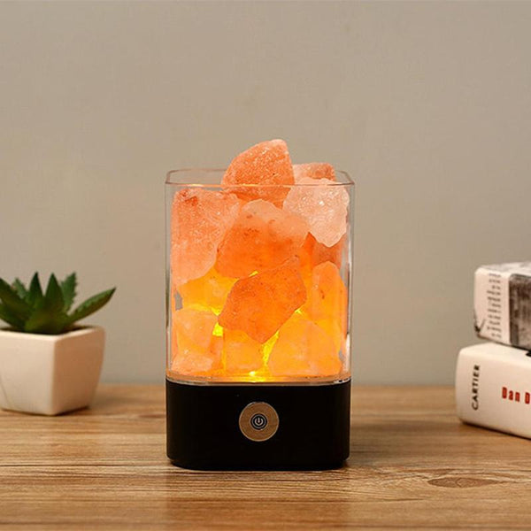USB Crystal Light Natural Himalayan Salt Lamp  Decoration  Lamp Children Night Light