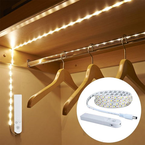 LED Strip Light With Motion Sensor Lamp Strips USB Diode Tape