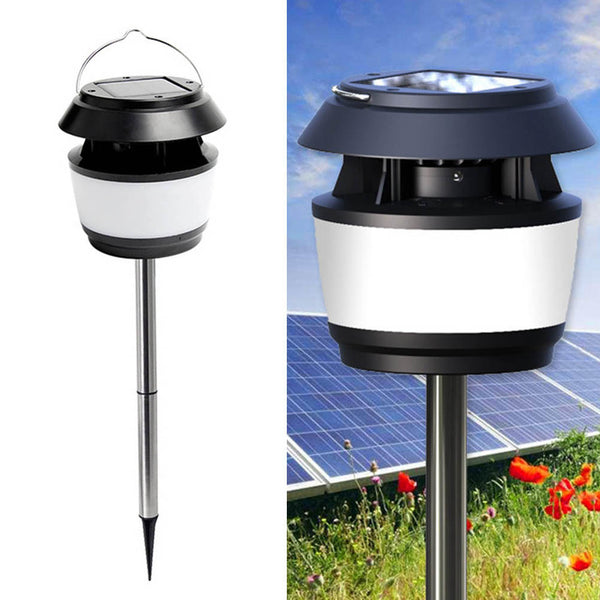 Solar Powered Mosquito Repellent Lamp Outdoor Ultrasonic Anti Mosquito Fly Insect Bugs Solar Garden Yard Lawn Lantern Lamp Light with Spike