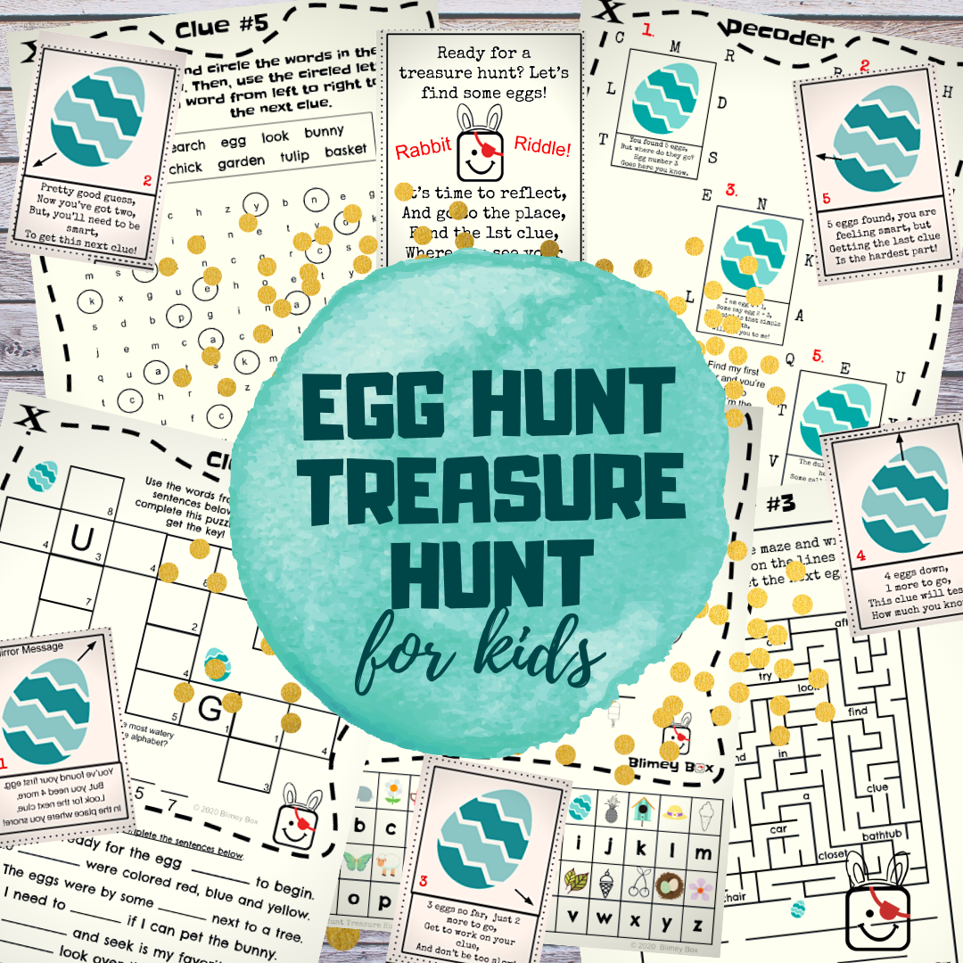 Egg Hunt Treasure Hunt (Free Printable)