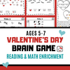 Valentine's Day Kindergarten & 1st Grade Math and Reading Game
