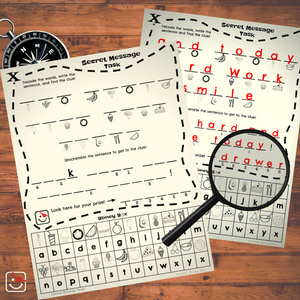 Mini-Treasure Hunt Secret Message Puzzle (free printable)