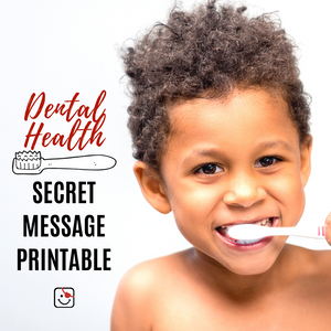Dental Health Secret Message Printable