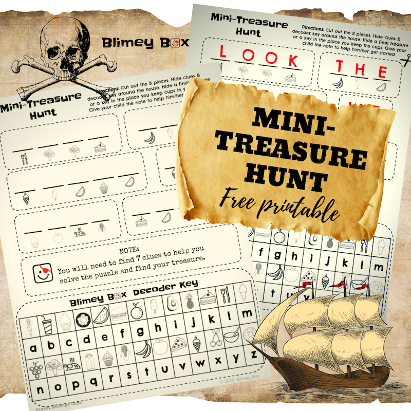 Mini-Treasure Hunt for kids (Free Printable)