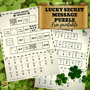 St. Patrick's Day Secret Message Puzzle for kids