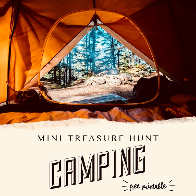 Camp Theme Mini-Treasure Hunt (Free Printable)