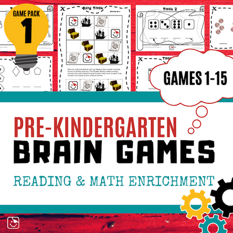 Pre-K Reading and Math Enrichment Game Pack 1