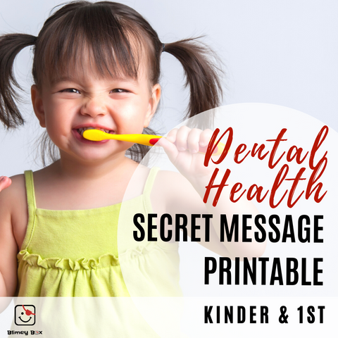 Dental Health Secret Message Freebie