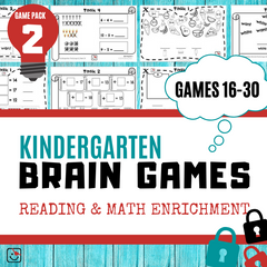 Kindergarten Enrichment Game Pack 2