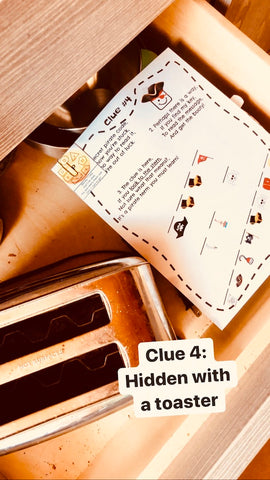 Clue 4 hidden under the toaster