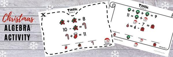 Christmas Algebra Activity