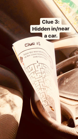 Clue 3 hidden in a car