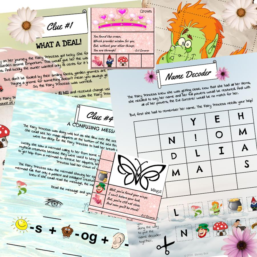 Fairy Princess Treasure Hunt | Escape Game for kids | Printable Treasure Hunt