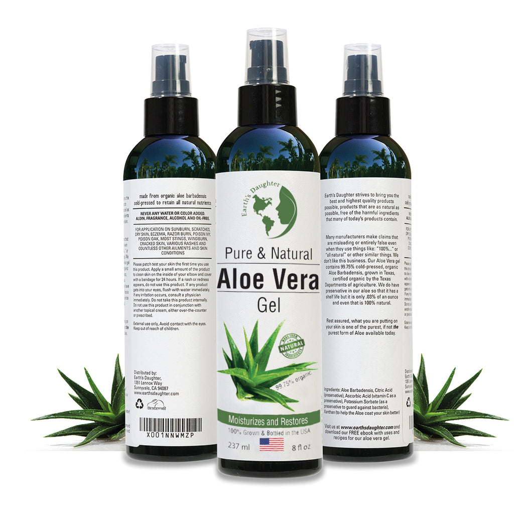 Organic Aloe Vera Gel, 8 fluid ounces