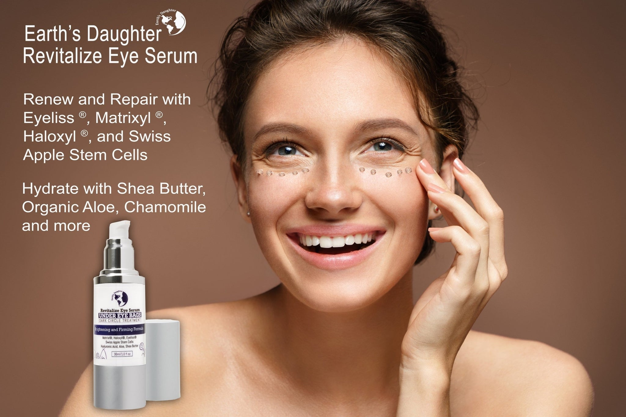Earth's Daughter Revitalize Eye Serum with Matrixyl, Haloxyl