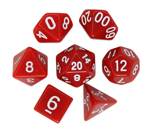 Red – Fortitude RPG Dice Set (7pc and velvet bag)