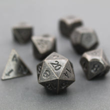 Load image into Gallery viewer, Ancient Nickel - 7 Piece Metal Polyhedral Dice Set with Metal Box