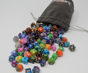 Velvet and Satin Dice Bag for RPG Like D&D (3) - Slayers Guild