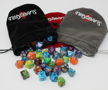Load image into Gallery viewer, Velvet and Satin Dice Bag for RPG Like D&D (1) - Slayers Guild