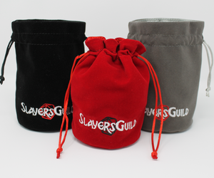 Velvet and Satin Dice Bag for RPG Like D&D (2) - Slayers Guild