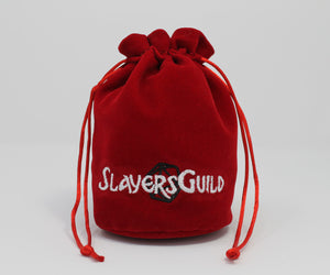 Red Velvet and Satin Dice Bag for Roleplay Gaming Like D&D - Slayers Guild