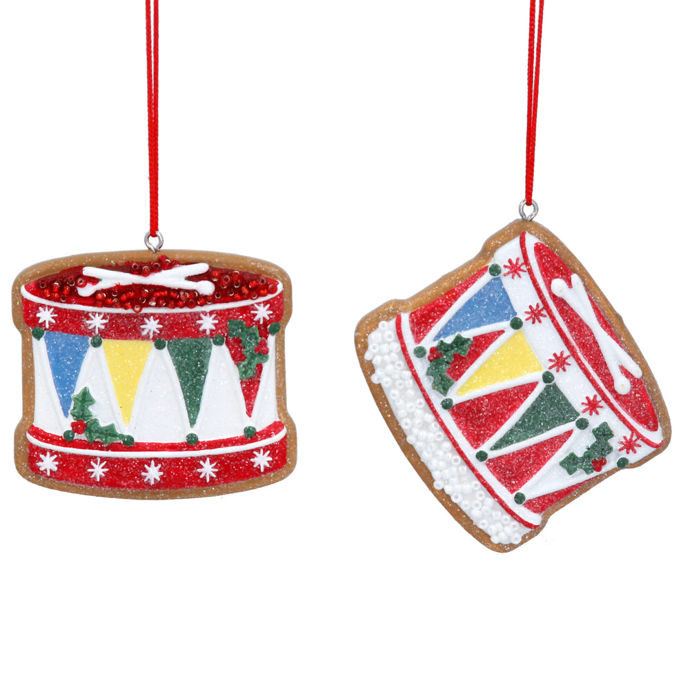 Gingerbread Drum Tree Decoration